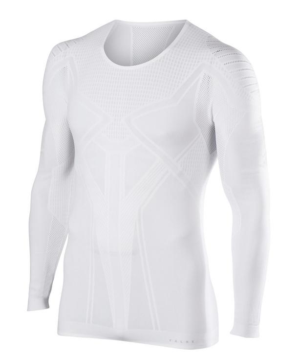 FALKE Herren Langarmshirt Cool, XXL-3XL, Weiß, Uni, 33550-286005
