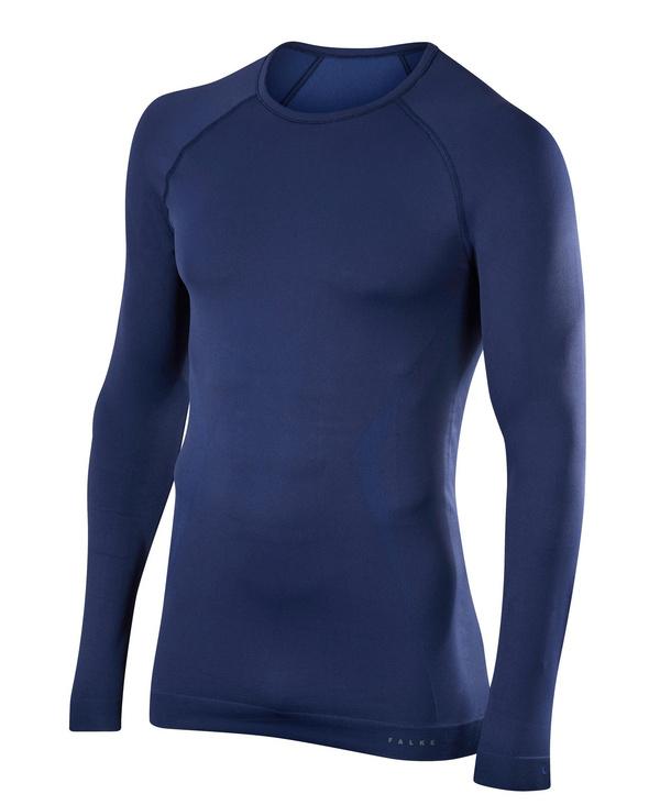 FALKE Herren Langarmshirt Maximum Warm, XXL, Blau, Uni, 33541-617706
