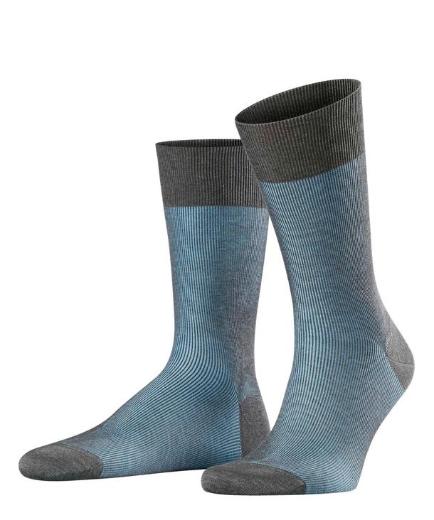 Black//Grey Falke Fine Shadow Socks