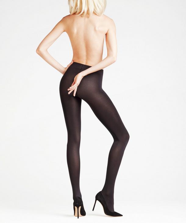 Blickdichte Strumpfhose haut tan ohne Muster 40Den M L XL Damen Tights Pantyhose