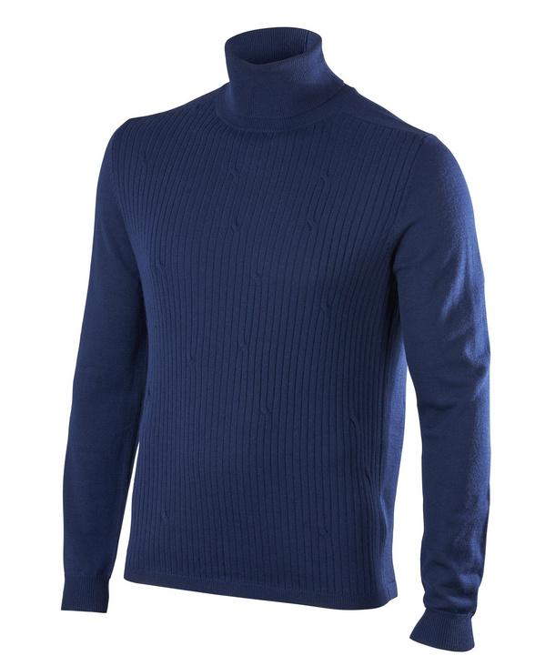 FALKE Faux Pas Herren Langarmshirt, S, Blau, Uni, 37126-617701