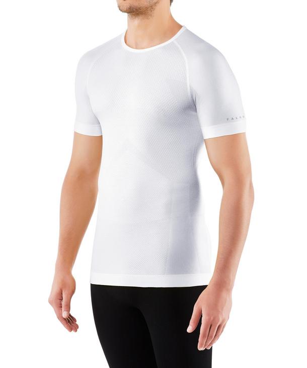 FALKE Herren Kurzarmshirt Cool, L, Weiß, Uni, 33741-286004