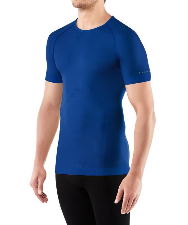 FALKE Herren Kurzarmshirt Cool, XL, Blau, Uni, 33741-671405