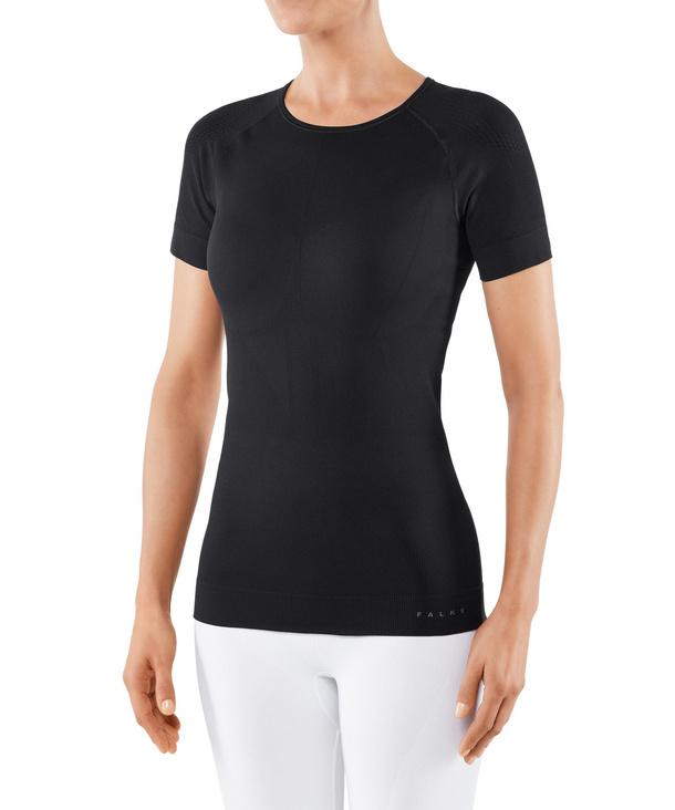 FALKE Warm Impulse Damen Kurzarmshirt Health, S, Schwarz, Uni, 39125-300002