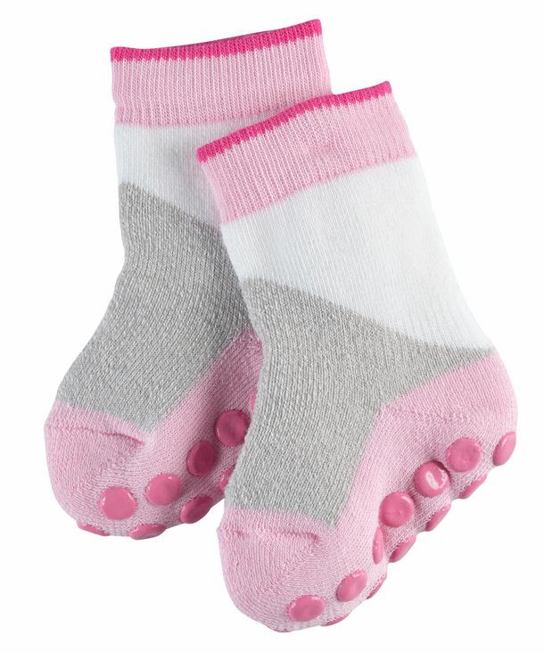 FALKE Block Baby Socken, 62-68, Rosa, Baumwolle, 12260-844801