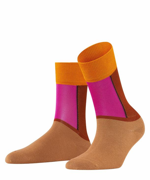 FALKE Soft Study Damen Socken, 39-42, Rot, Netz, Baumwolle, 46355-850002