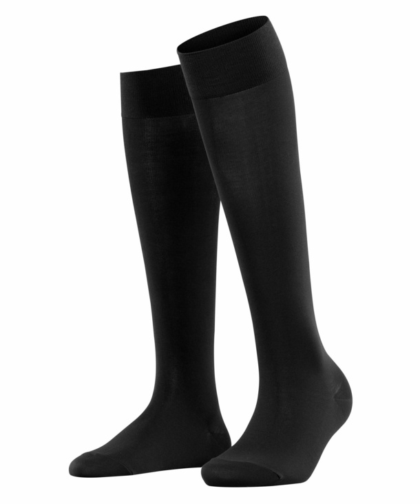 Falke Cotton Touch Knee High Socks Black