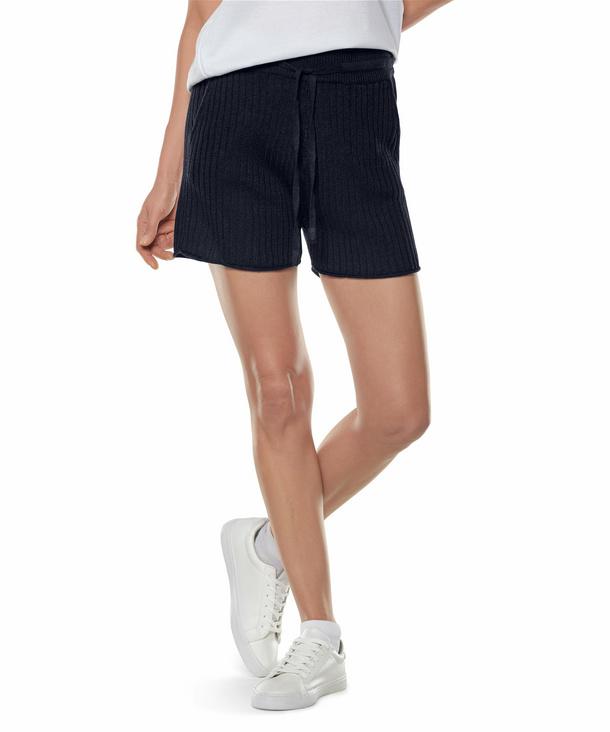 FALKE Damen Shorts, XXS, Blau, Struktur, Leinen, 64061-643700