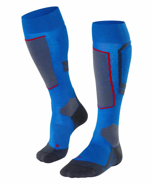 Details about  /Falke Sk4 Wool Mens Socks Snow Cobalt Blue All Sizes