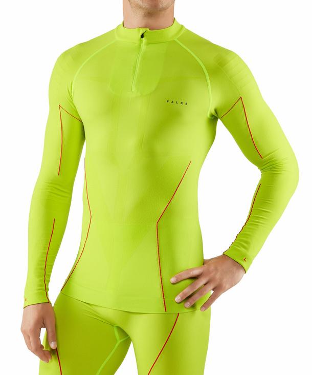 Langarmshirt Maximum Warm Long Sleeve Close Fit Funktionsfaser 1 er Pack FALKE Herren