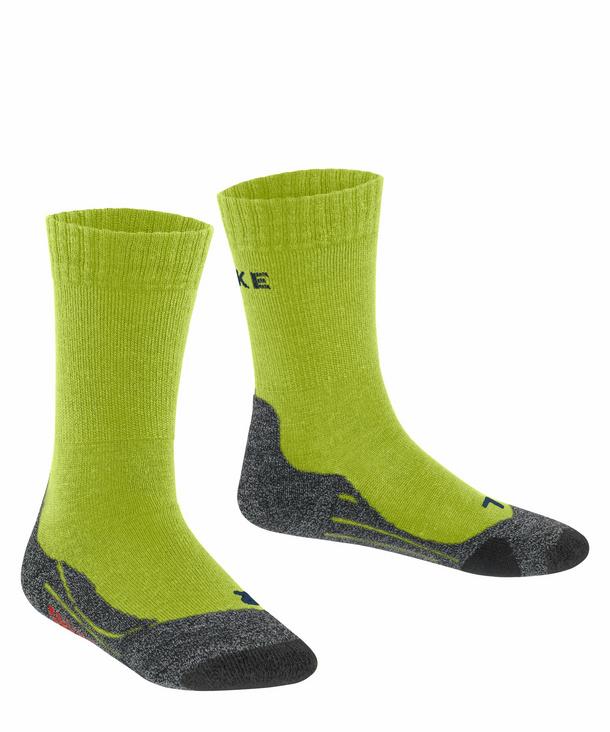 For boys and girls cushioned 1 Pair Merino Wool Blend anti blister breathable Multiple Colours Sizes: 2 to 12 Years /Ι UK 6-5 FALKE Unisex Kids TK2 Hiking Socks warm