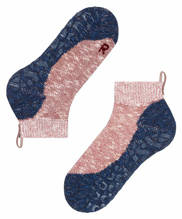 Oxford Pink//Blue Falke Mens Lodge Homepad Slipper Socks