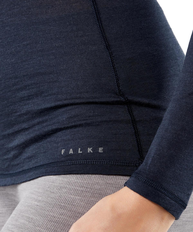 FALKE Mens Silk Wool Long Sleeve Shirt Heather Grey