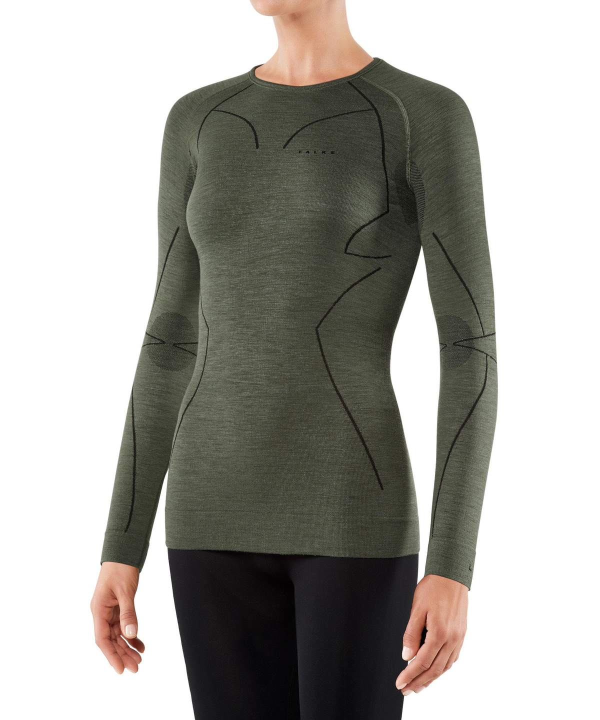 Multiple Colours 1 Piece quick dry FALKE Womens Wool Tech Merino Wool Blend For hiking ski trekking Short Sleeve Base Layer Top snowboarding: warm breathable Sizes XS-XL