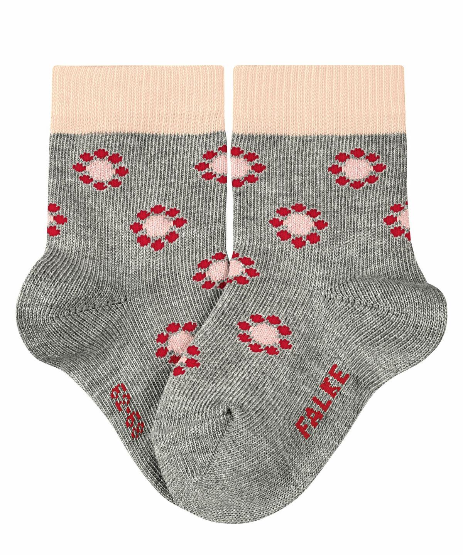gray socks Socks cute ankle socks gray flower socks