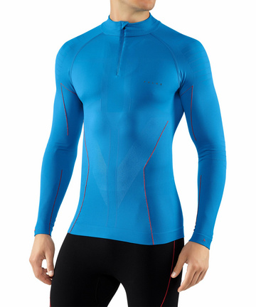 quick dry FALKE Mens Warm Comfort Fit Long Sleeve Base Layer Top running: thermal Sizes S-XXL trekking 1 Piece Sports Performance Fabric Multiple Colours breathable For hiking