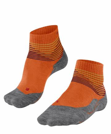 Black FALKE mens TK1 Cool Hiking Socks Sports Performance Fabric